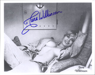 JUNE WILKINSON - PRINTED PHOTOGRAPH SIGNED IN INK