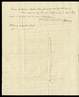 VICE PRESIDENT AARON BURR - AUTOGRAPH LETTER SIGNED 09/23/1818