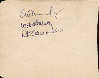 ADMIRAL CHESTER W. NIMITZ - AUTOGRAPH CO-SIGNED BY: BERNARD FRENCHY UHALT, FERRIS BURRHEAD FAIN, DON WHITE, ADMIRAL WILLIAM F. BULL HALSEY JR., ADMIRAL RICHARD S. EDWARDS, FRANK ROSSO, BILL WERLE, NEILL SHERIDAN, RAY HARRELL