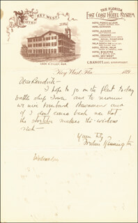 FREDERIC REMINGTON - AUTOGRAPH LETTER SIGNED