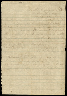 BRIGADIER GENERAL BENJAMIN J. HILL - AUTOGRAPH LETTER DOUBLE SIGNED 04/08/1864