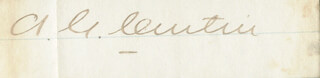 ANDREW G. CURTIN - AUTOGRAPH