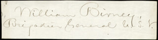 Autographs: MAJOR GENERAL WILLIAM BIRNEY - SIGNATURE(S)
