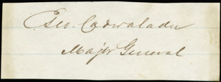 Autographs: MAJOR GENERAL GEORGE CADWALADER - SIGNATURE(S)