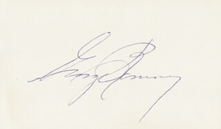 GEORGE W. ROMNEY - AUTOGRAPH