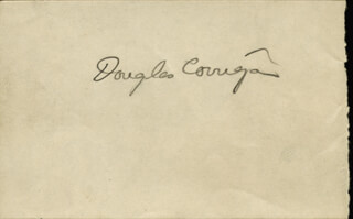DOUGLAS WRONG WAY CORRIGAN - AUTOGRAPH