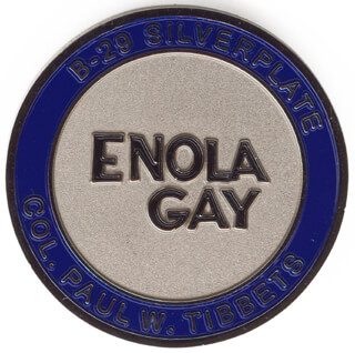 Autographs: ENOLA GAY CREW (PAUL W. TIBBETS) - EPHEMERA UNSIGNED