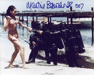 MARTINE BESWICKE - AUTOGRAPHED SIGNED PHOTOGRAPH