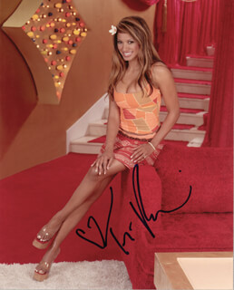 TRACI BINGHAM - AUTOGRAPHED SIGNED PHOTOGRAPH