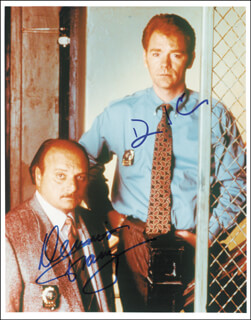 NYPD BLUE TV CAST - AUTOGRAPHED SIGNED PHOTOGRAPH CO-SIGNED BY: DAVID CARUSO, DENNIS FRANZ