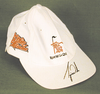 TIGER WOODS - HAT SIGNED