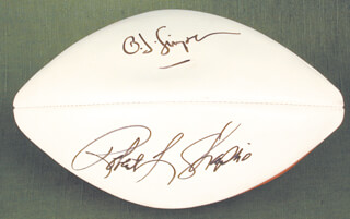 O. J. SIMPSON - FOOTBALL SIGNED CO-SIGNED BY: ROBERT L. SHAPIRO