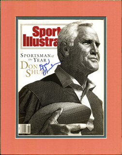 DON SHULA - MAGAZINE COVER SIGNED