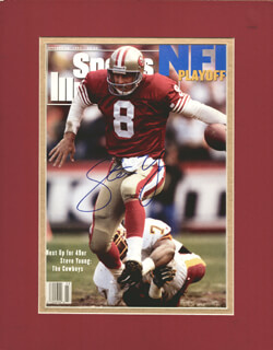 STEVE YOUNG - MAGAZINE COVER SIGNED