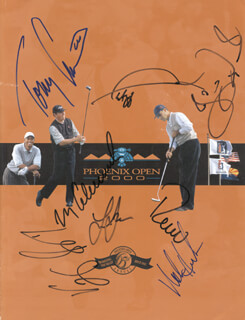 VIJAY SINGH - PROGRAM COVER SIGNED CO-SIGNED BY: PAUL AZINGER, MARK CALCAVECCHIA, TOMMY ARMOUR III, NOLAN HENKE, LEE JANZEN, ROCCO A. MEDIATE, JESPER PARNEVIK