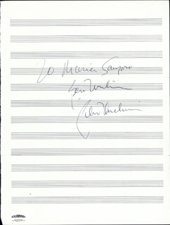 PETER DUCHIN - AUTOGRAPH NOTE SIGNED