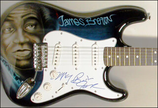 JAMES GODFATHER OF SOUL BROWN - GUITAR SIGNED