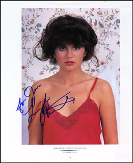 LINDA RONSTADT - INSCRIBED MAGAZINE PHOTO SIGNED CIRCA 1976