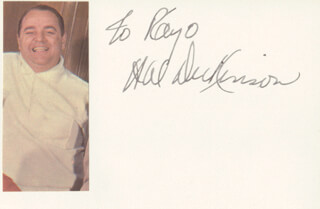 THE MODERNAIRES (HAROLD HAL DICKINSON) - INSCRIBED SIGNATURE