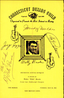 MICKEY THE TOY BULLDOG WALKER - PROGRAM COVER SIGNED CO-SIGNED BY: WALLY J. (WALTER) BONOLA, D. J. PETE PERONE