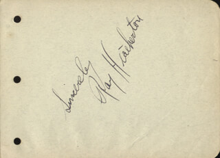 RAY HEATHERTON - AUTOGRAPH SENTIMENT SIGNED