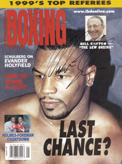 MIKE IRON MIKE TYSON - MAGAZINE COVER SIGNED