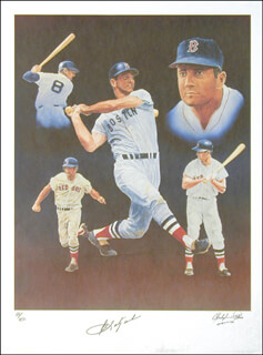 CARL YAZ YASTRZEMSKI - LITHOGRAPH SIGNED CIRCA 1991 CO-SIGNED BY: CHRISTOPHER PALUSO