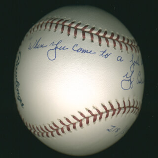 Autographs: YOGI BERRA - BASEBALL SIGNED WITH AQS