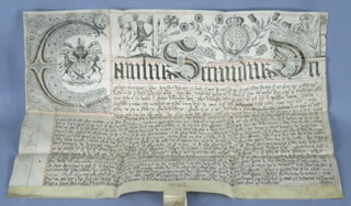 KING CHARLES II (GREAT BRITAIN) - DOCUMENT UNSIGNED