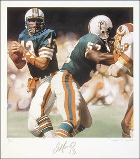 DAN MARINO - LITHOGRAPH SIGNED CIRCA 1986 CO-SIGNED BY: DANIEL M. SMITH