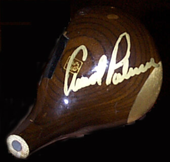 ARNOLD PALMER - GOLF CLUB HEAD SIGNED