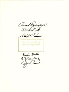 PRESIDENT GEORGE W. BUSH - BOOK SIGNED CIRCA 1995 CO-SIGNED BY: GOVERNOR DOLPH BRISCOE, GOVERNOR PRESTON SMITH, GOVERNOR ANN W. RICHARDS, GOVERNOR BILL (WILLIAM PERRY) CLEMENTS, JR., GOVERNOR MARK WHITE
