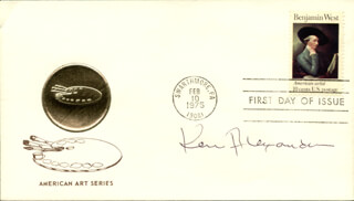 Autographs: KEN ALEXANDER - FIRST DAY COVER SIGNED