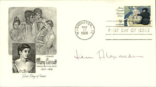 KEN ALEXANDER - FIRST DAY COVER SIGNED