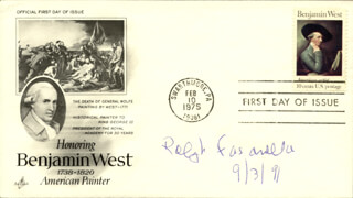 RALPH FASANELLA - FIRST DAY COVER SIGNED 09/03/1991