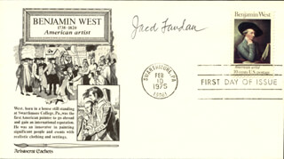 JACOB LANDAU - FIRST DAY COVER SIGNED