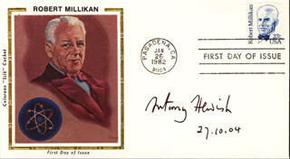 ANTONY HEWISH - FIRST DAY COVER SIGNED 10/27/2004
