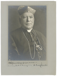Autographs: WILLIAM HERNY CARDINAL O'CONNELL - PHOTOGRAPH SIGNED