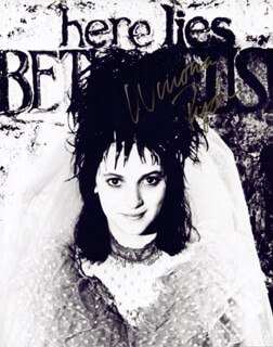WINONA RYDER - AUTOGRAPHED SIGNED PHOTOGRAPH