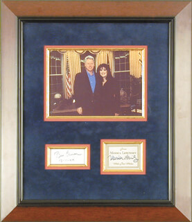 Autographs: PRESIDENT WILLIAM J. BILL CLINTON - SIGNATURE(S) 12/11/1994 CO-SIGNED BY: MONICA LEWINSKY