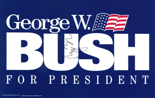 Autographs: PRESIDENT GEORGE W. BUSH - EPHEMERA SIGNED