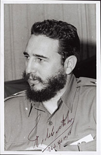 Autographs: FIDEL CASTRO COLLECTION