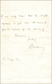 PRIME MINISTER ARCHIBALD P. 5TH EARL OF ROSEBERY PRIMROSE (GREAT BRITAIN) - AUTOGRAPH LETTER SIGNED 01/21/1889