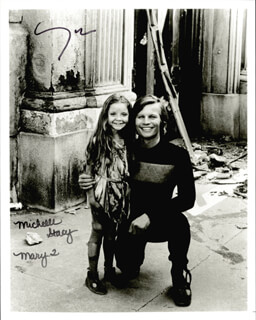 LOGAN''S RUN MOVIE CAST - AUTOGRAPHED SIGNED PHOTOGRAPH CO-SIGNED BY: MICHAEL YORK, MICHELLE STACY