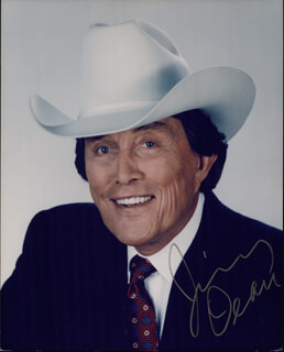 JIMMY DEAN - AUTOGRAPHED SIGNED PHOTOGRAPH