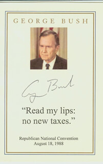 PRESIDENT GEORGE H.W. BUSH - QUOTATION SIGNED