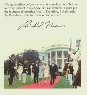 PRESIDENT RICHARD M. NIXON - QUOTATION SIGNED