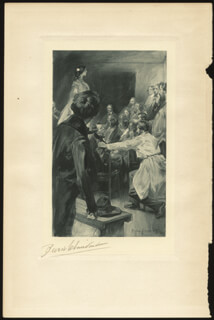 BENJAMIN WEST CLINEDINST - PRINTED ART SIGNED IN PENCIL