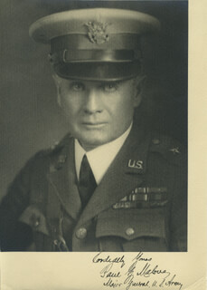 Autographs: GENERAL PAUL B. MALONE - PHOTOGRAPH SIGNED