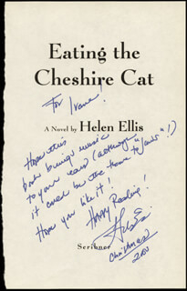 HELEN ELLIS - AUTOGRAPH NOTE SIGNED 12/25/2000